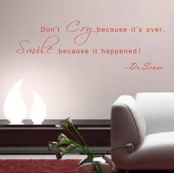 Smile Because It Happened Wall Decal