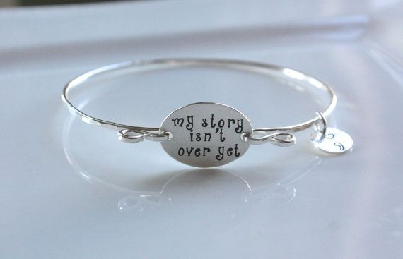 Semicolon Bracelet My Story Isn't Over Yet by TomisTreasures