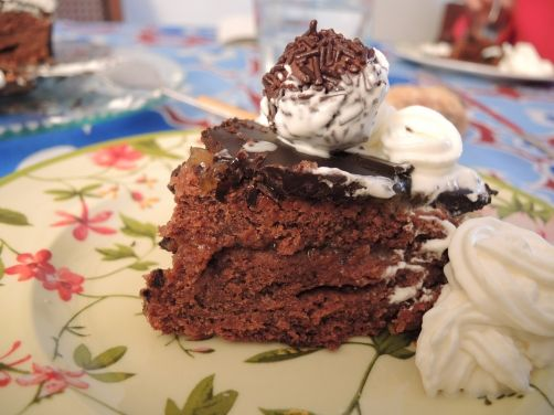 Tarta Sacher (Sachertorte) para #Mycook http://www.mycook.es/receta/tarta-sacher-sachertorte/