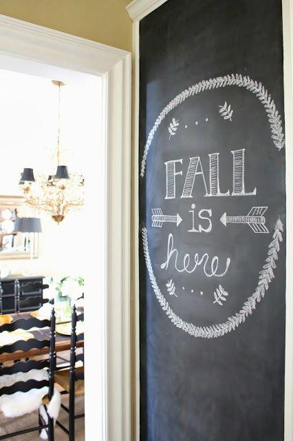 TiffanyD: Kitchen Chalkboard Wall diy