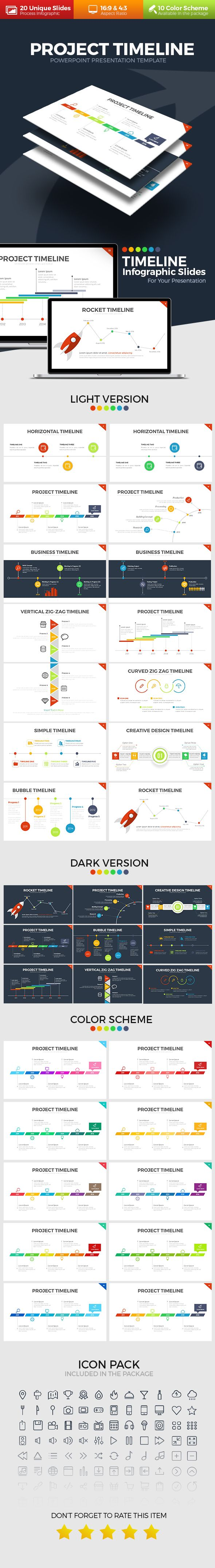Project Timeline PowerPoint Template. Download here: https://graphicriver.net/item/project-timeline-powerpoint-template/17495263?ref=ksioks