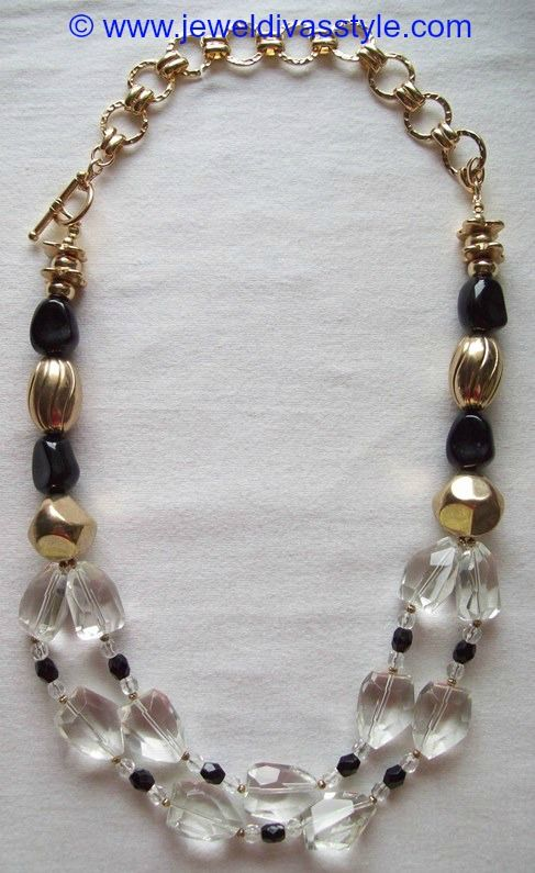 JDS - BLACK & CRYSTAL NECKLACE - http://jeweldivasstyle.com/my-personal-collection-new-black-white-and-brown-jewellery/