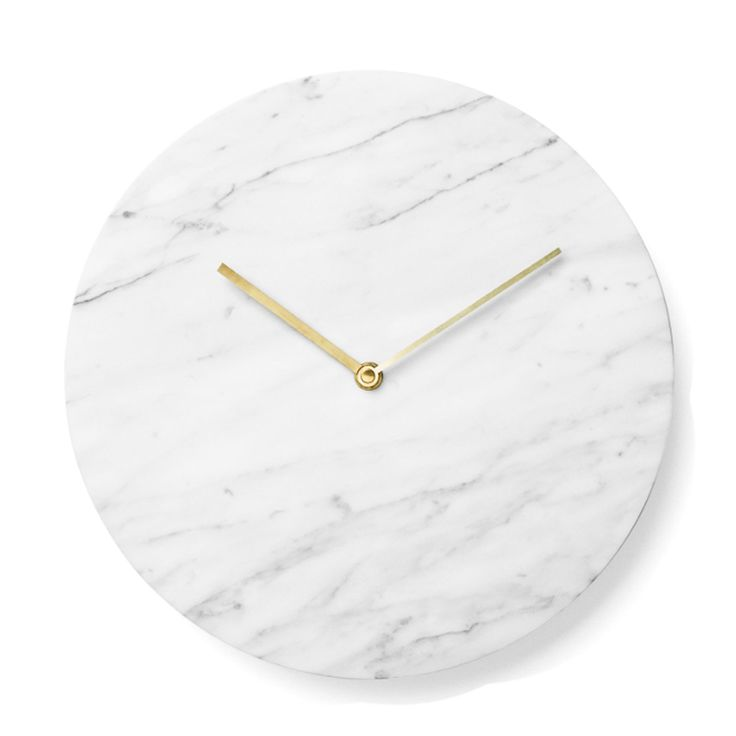 It's perfect. Can i have one? | Menu Marble White Wall Clock | Wall Clocks | Clocks | Home Furnishings | Heal's