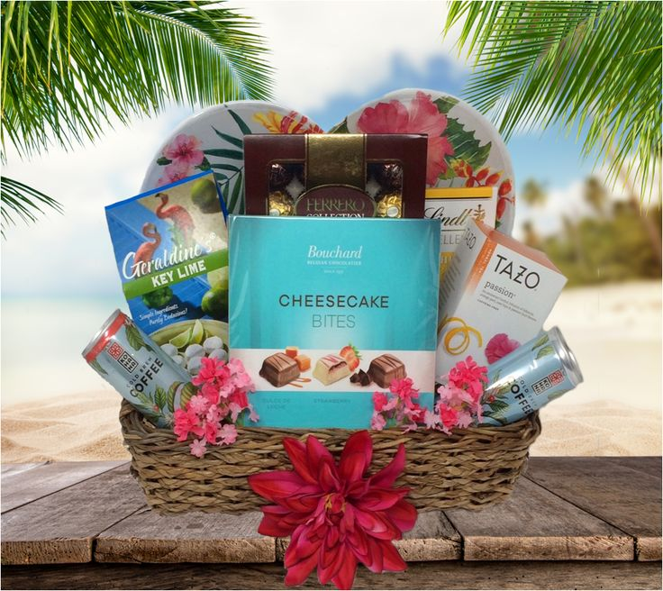 Tropical Beach Vacation Gift Basket - Tennessee Baskets
