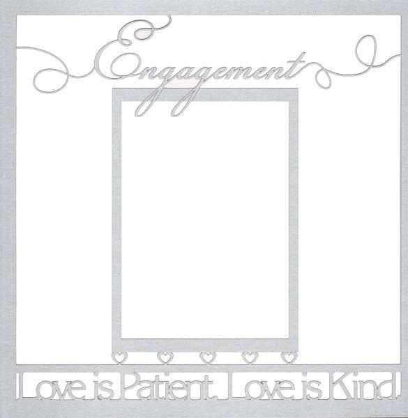 Engagement Frame 12 x 12 Overlay Laser Die Cut