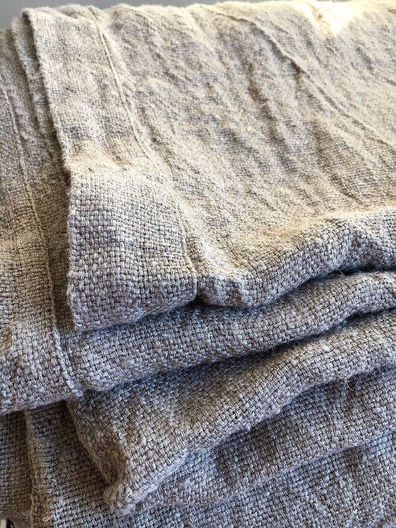Linen bed cover Rustic linen Rustic blanket linen by Linenbeeshop