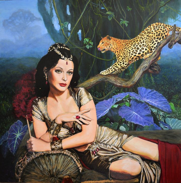 GOING INTO PRIZE SOON - LARGE painting retro leopard Delilah art Jane Ianniello
