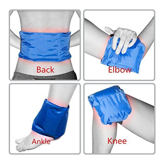 "Amazon.com: Shoulder or Back Gel Ice Pack Reusable also for Knee Waist Arm Ankle Elbow Sports Muscle Pain Relief Large Cold Hot Therapy Wrap for Injuries Medical 15""x 5.9"": Health & Personal Care"