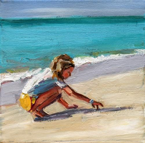 """sand scribe"" - Original Fine Art for Sale - © carol carmichael"