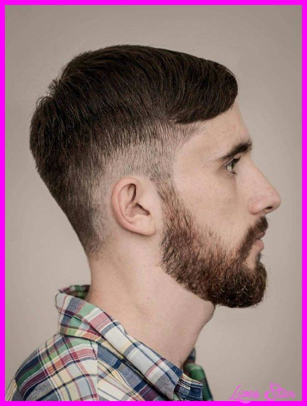 Drop fade haircut with part
