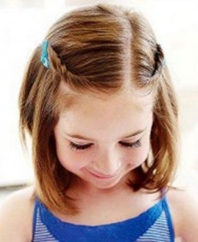 Cute simple hairstyle with pins for kids