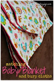 Dwell on Joy: Sewing Project: Baby Blanket & Burp Cloths