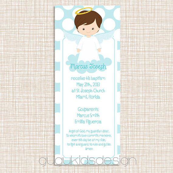DIY Printable File- Baptism Favor Bookmark