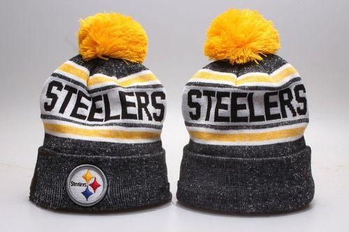 ec597faa1c0 Pittsburgh Steelers Winter Outdoor Sports Warm Knit Beanie Hat Pom ...
