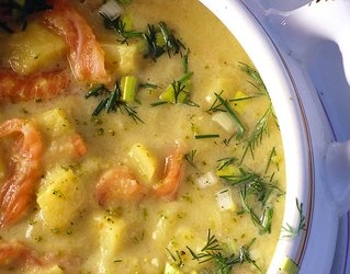 #Zupa ziemniaczana z łososiem