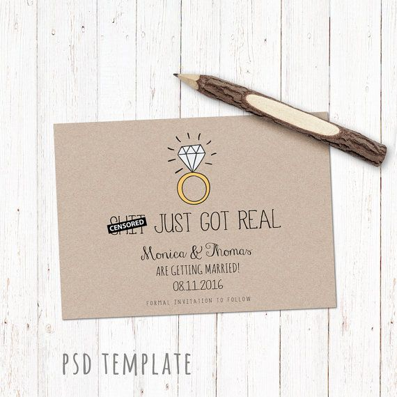 Save The Date template card. Funny digital by PenguinGraphics