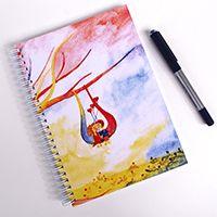 Hintázó párocska Spirálfüzet #illusztráció#akvarell#füzet#design#colorful