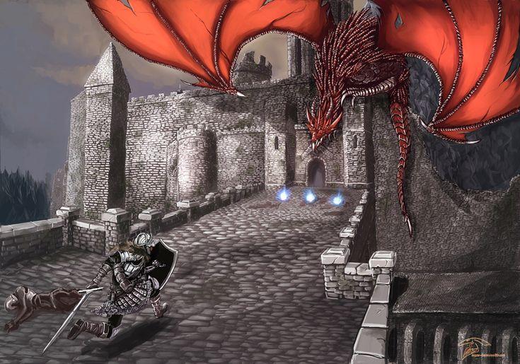 Dark Souls,фэндомы,DS art,DS персонажи,Chosen Undead,hellkite dragon