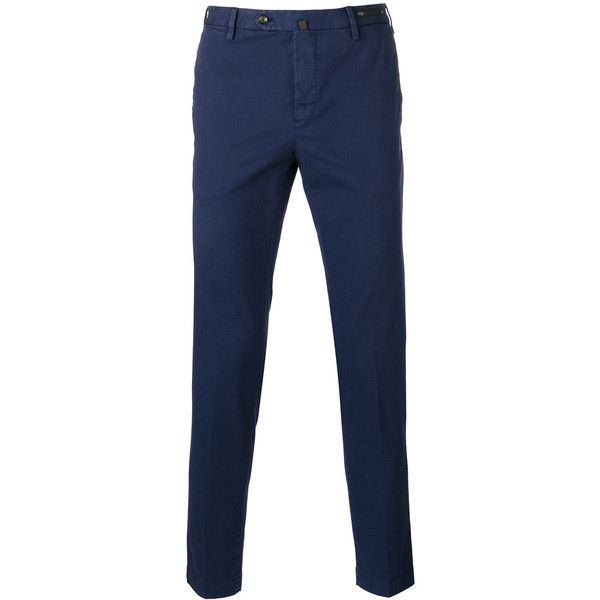 Pt01 Skinny Cropped Trousers ($196) ❤ liked on Polyvore featuring men's fashion, men's clothing, men's pants, men's casual pants, mens skinny fit dress pants, mens cropped pants, mens blue pants, mens skinny pants and mens super skinny dress pants