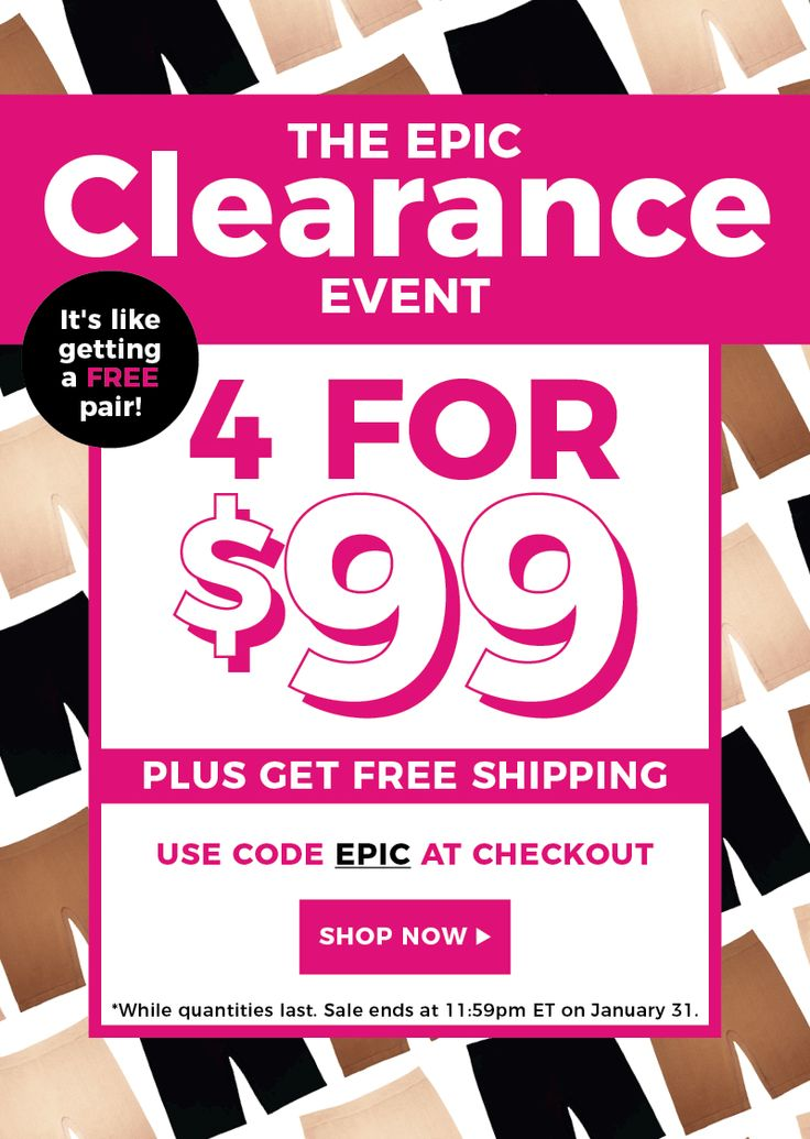 """📣 Today is the LAST DAY of our EPIC CLEARANCE SALE 😲  Get 4 of your fave anti-chafing slip shorts ALL for just $99, while quantities last ⚡️⚡️  Use the discount code """"EPIC"""" at checkout to get what's equivalent to a free pair 🛍  ✈️ We'll also ship 'em to you for FREE 😉  Shop now: https://www.thighsociety.com/?utm_content=buffer7a57c&utm_medium=social&utm_source=pinterest.com&utm_campaign=buffer  #epicsale #clearance #sale #discount #slipshorts #antichafing #thighsociety #promo…"""