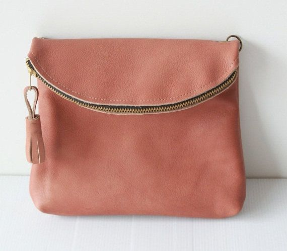 5c27779e9be8 Pink Genuine leather Purse   clutch