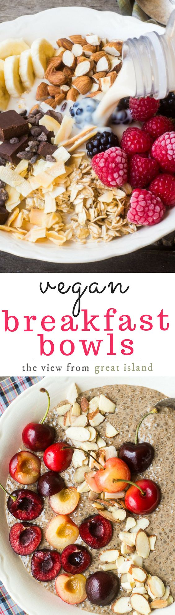 Beautiful Vegan Breakfast Bowls are the answer to the breakfast blahs, one of these protein rich powerhouse bowls will jump start your engine, guaranteed!