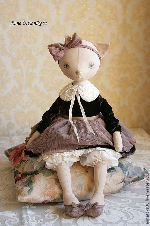 Мила. - кошка,интерьерная кукла,коллекционная кукла,авторская работа,авторская кукла