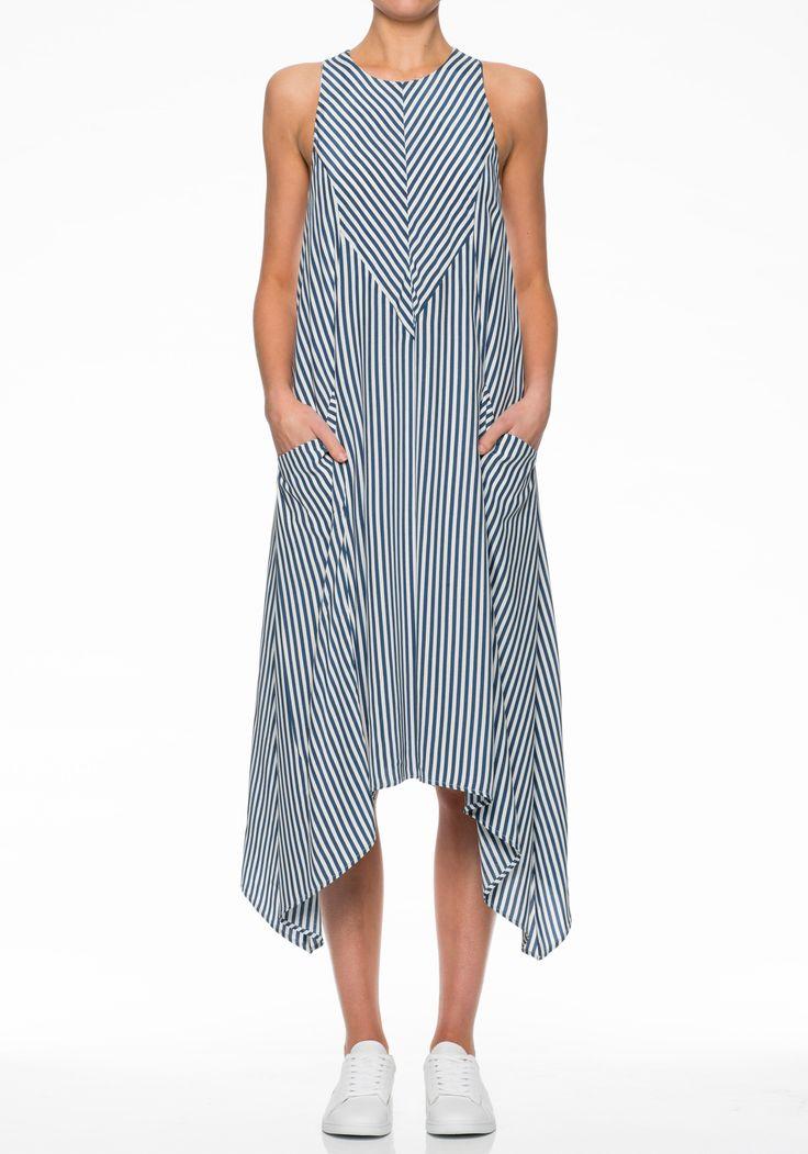 DELPHINE ASYMMETRIC DRESS | SALE | Clothing | VIKTORIA & WOODS