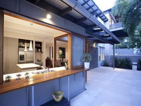 Open kitchen to deck