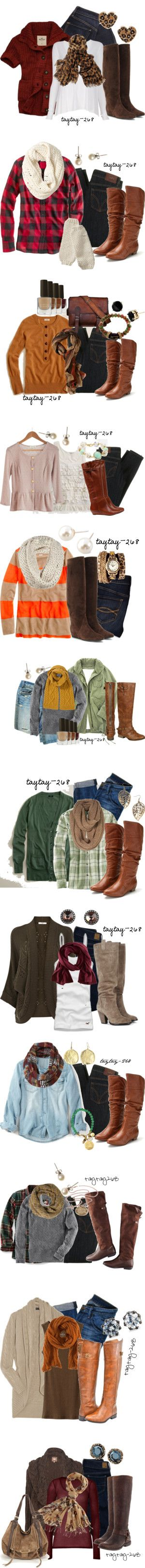 """""""Fall Fashion Boots"""" by taytay-268 on Polyvore. So many great fall outfits here!"""