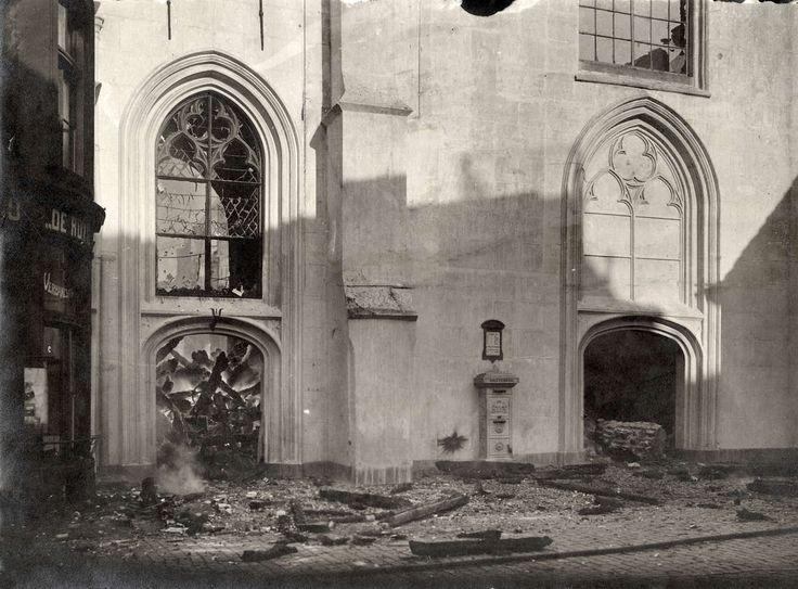 Vlisienge - grote kerk → afgebrand in 1911