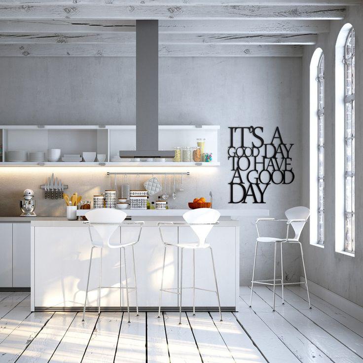 Napis na ścianę ITS A GOOD DAY TO HAVE A GOOD DAY czarny - Dekoracje ścienne - Meble, dekoracje, oświetlenie Biokominki,Grille ogrodowe,Drzwi, Podłogi,Meble,Dekoracje