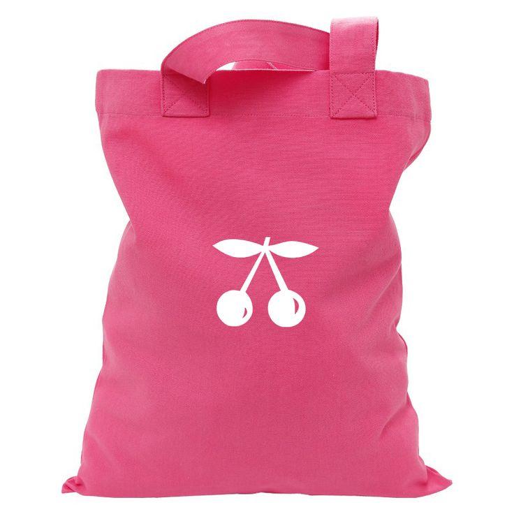 Tote bag couleur grenadine en coton à personnaliser.