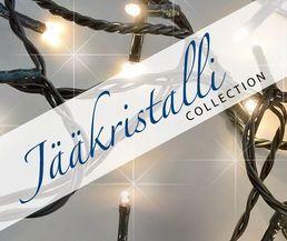Valosarja, 40 LED, lämmin valkoinen, sisä- ja ulkokäyttöön; Jääkristalli | Rellunkulma.fi verkkokauppa