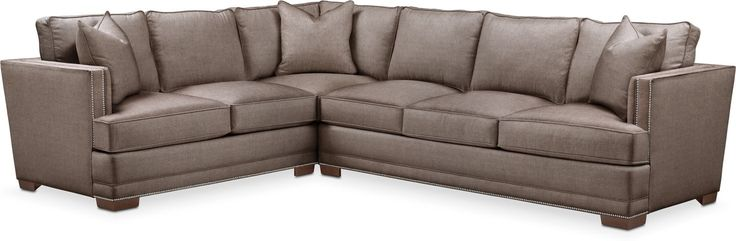 Arden 2 Pc. Sectional With Right Arm Facing Sofa- Comfort In Hugo Mocha