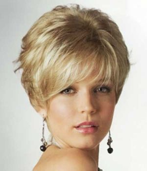 Short Elegant Blonde Hairstyle by lilia