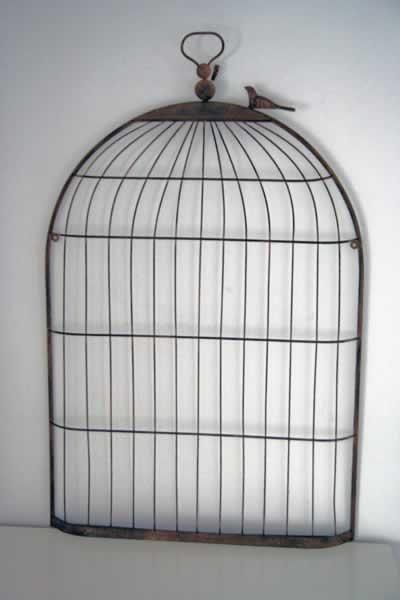 iron bird cage memo board