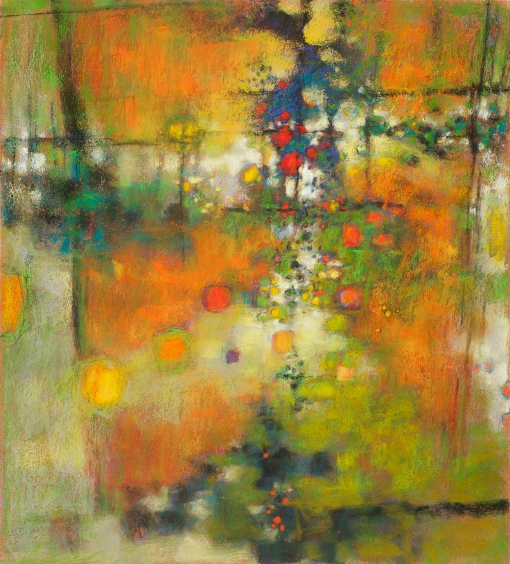 "Infinite Now   pastel on paper   20 x 18""   2007   Rick ..."