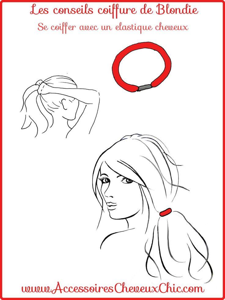 Se coiffer avec un élastique cheveux