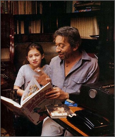 Charlotte and Serge Gainsbourg