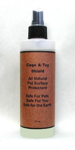8 oz Natural, Non-Stick, Easy Wipe Coating for Cages, Toys, Bowls, etc.