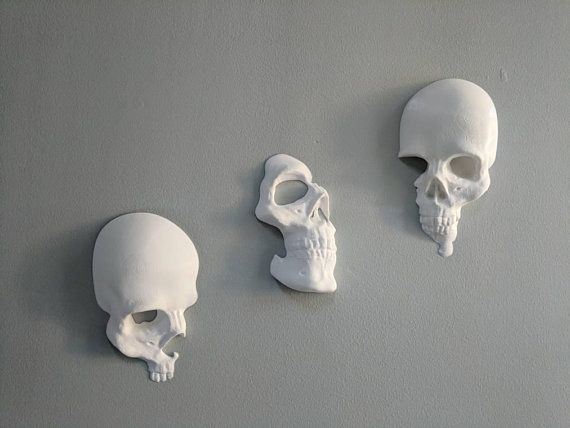 Set of 3 skulls (type A, B, and C). I designed these wall-art skulls to be used …