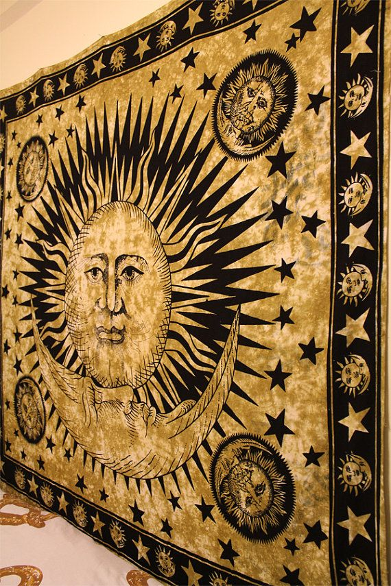 Sun and Moon Tapestry by Kandicopia on Etsy