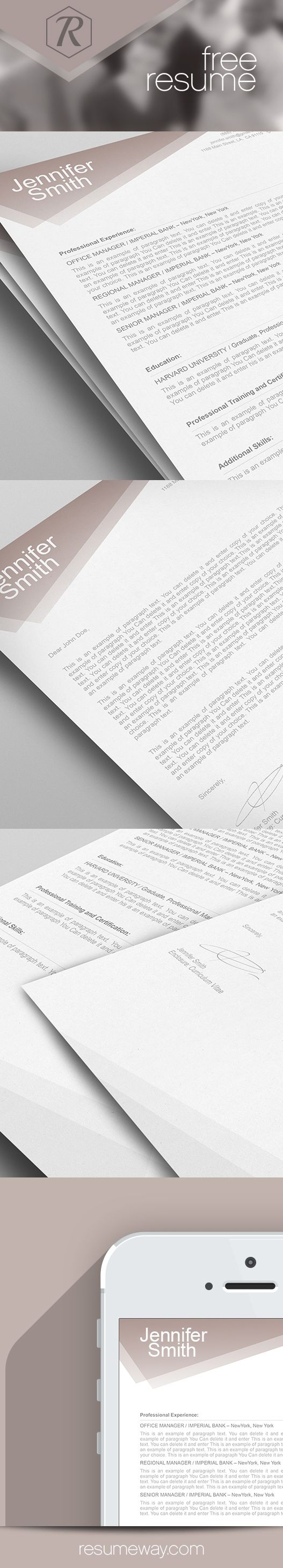 16 Best Free Resumes - Ms Word Images On Pinterest | Cover Letter