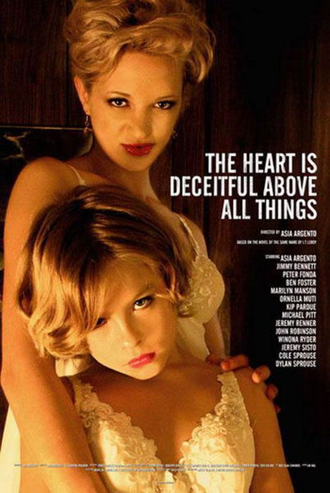 2004: The Heart Is Deceitful Above All Things (Ingannevole è il cuore sopra ogni cosa)    Directeded by Asia Argento    Starring Asia Argento, Jimmy Bennett & Dylan and Cole Sprouse (with Jimmy, Dylan and Cole sharing the role as Jeremiah). It is based on JT LeRoy's novel     Info: http://www.metamorgan.it/7-arte/compositore.html