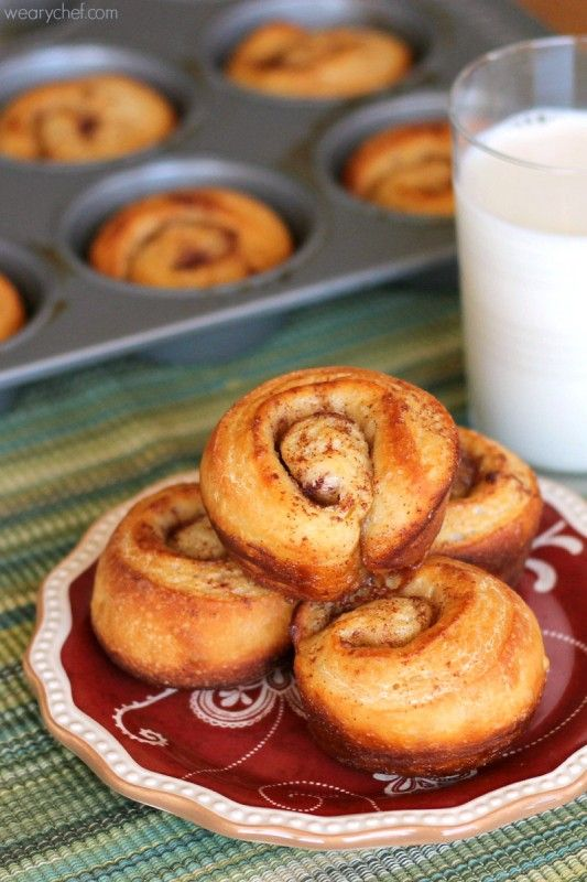 Secret Muffin Tin Cinnamon Buns - The secret is how easy they are to make!