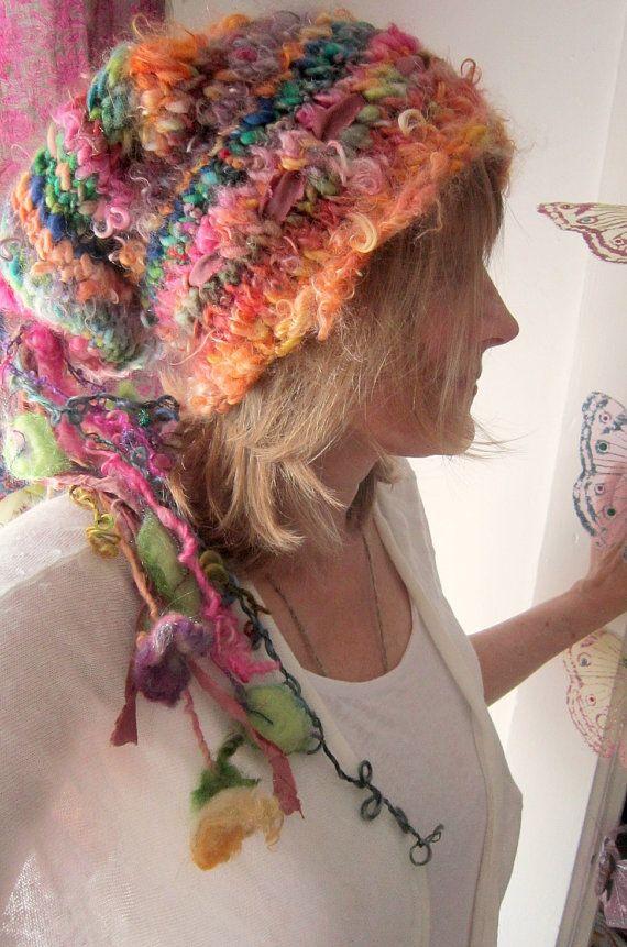 womens knit hat rustic alpaca wool handknit by beautifulplace