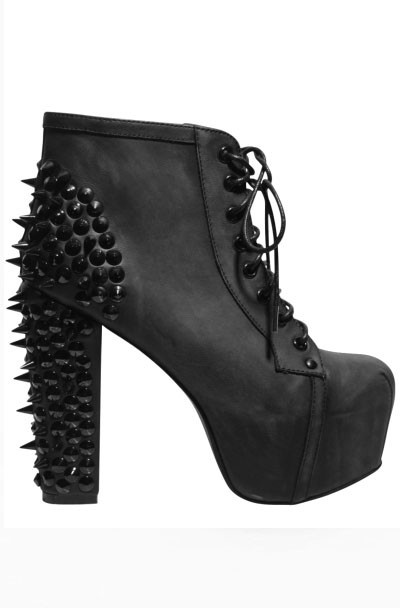 Jeffrey Campbell Black Spike - 1/2 of the pair of litas I have