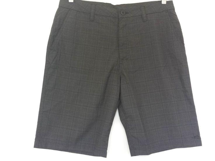 O Neill Shorts Mens Beach Plaid, 33 Waist. Colour Black