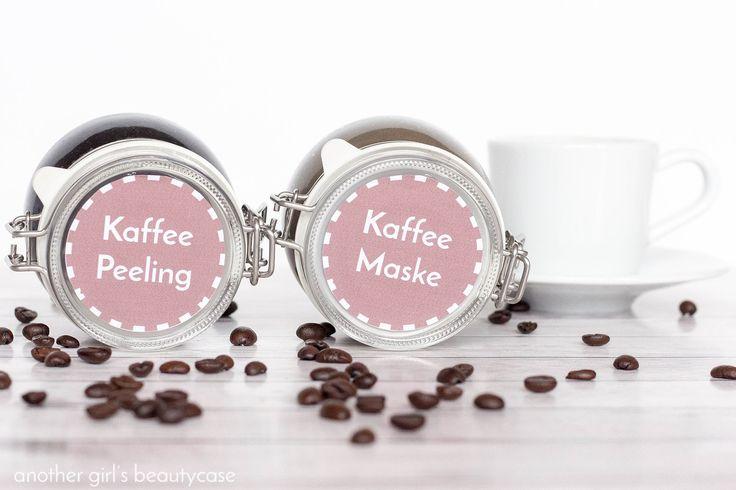 Eine super Geschenkidee für Kaffeejunkies: schnelles und einfaches Kaffeepeeling und Kaffeemaske mit kostenlosen Etiketten zum ausdrucken.